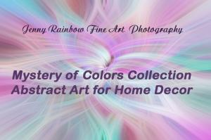 Mystery Of Colors. Abstract Art For Home Decor
